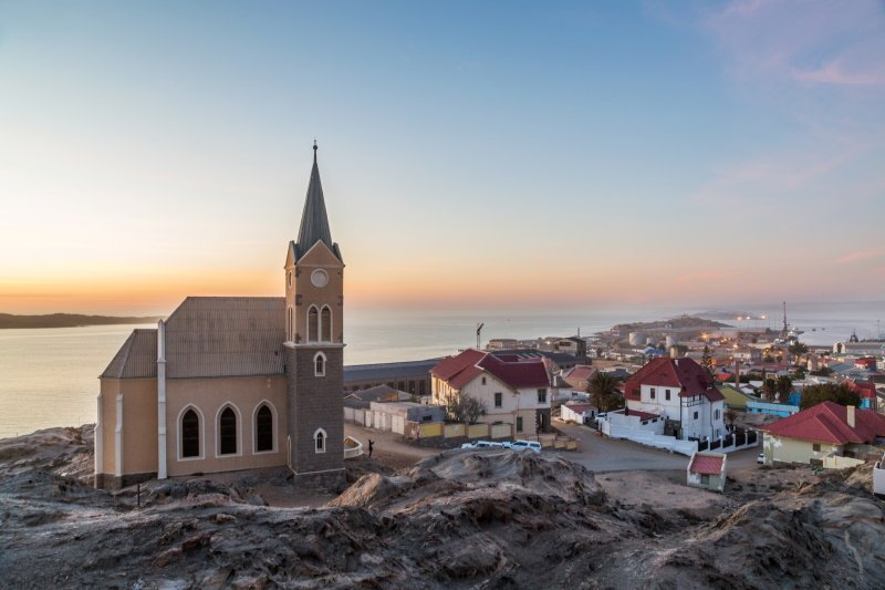Luderitz city at sunset, Namibia, Africa