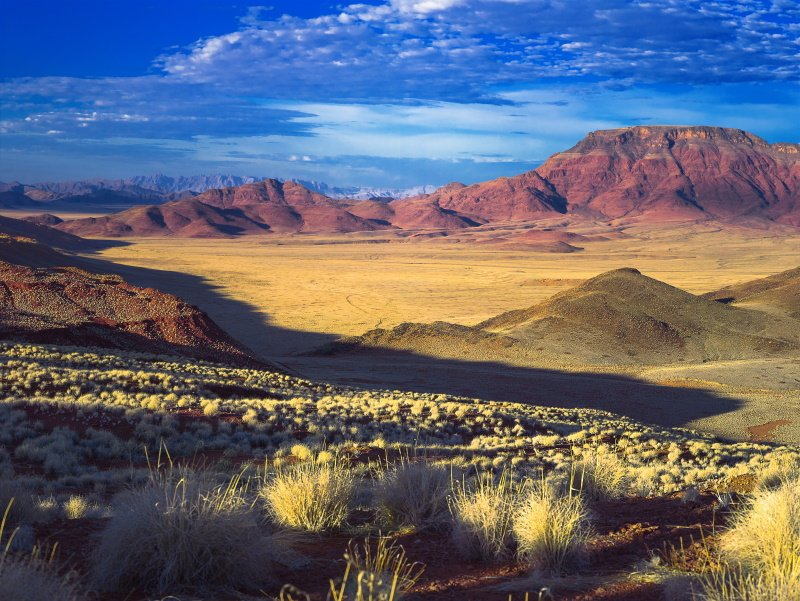 Namibia. Sky. Mountains.