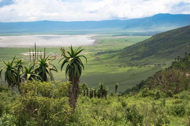 Ngorongoro crater with Lake Magadi landscape