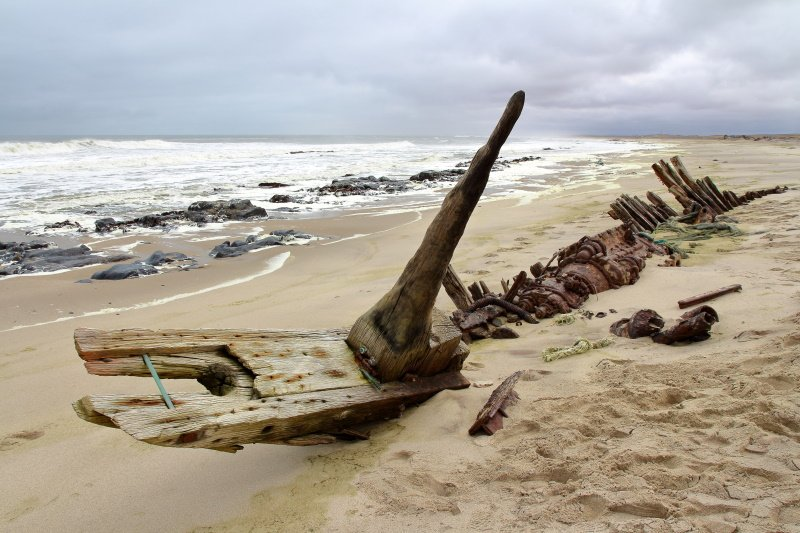Ship Wreck in Skeleton Coast, Namibia