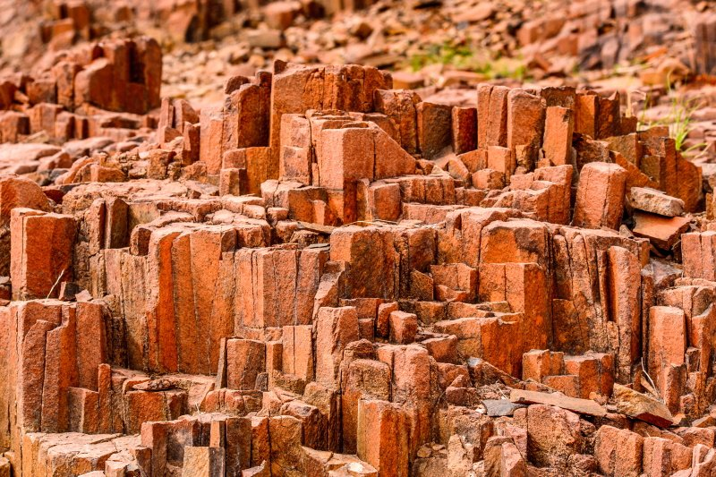 The Organ Pipes, Twyfelfontein, Damaraland, Namibia